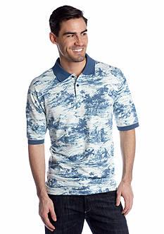 Saddlebred® Hawaiian Print Pique Polo