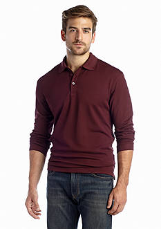 Saddlebred® Long Sleeve Polyester Polo
