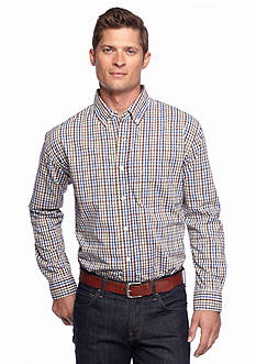 Saddlebred Long Sleeve Poplin Mini Plaid Shirt