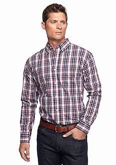 Saddlebred Long Sleeve Poplin Plaid Shirt