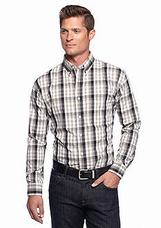 Saddlebred Long Sleeve Poplin Large Plaid Shirt