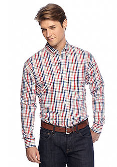 Saddlebred Long Sleeve Poplin Mini Gingham Shirt