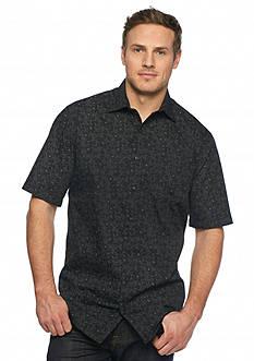 Saddlebred Big & Tall Short Sleeve Floral Print Shirt