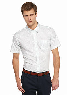 Saddlebred 1888 Short Sleeve Tailored Fit Woven Shirt