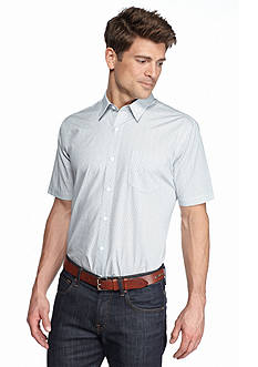 Saddlebred 1888 Short Sleeve Tailored Fit Printed Woven Shirt