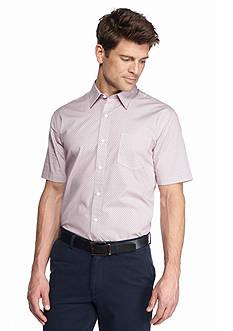 Saddlebred 1888 Short Sleeve Tailored Fit Ditsy Flower Print Woven Shirt