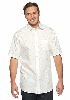 Saddlebred Big & Tall Short Sleeve Palm Print Shirt