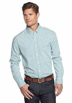 Saddlebred Long Sleeve Plaid Poplin Shirt