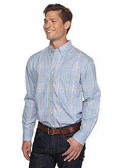 Saddlebred Long Sleeve Plaid Poplin Shirt