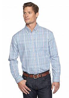 Saddlebred Long Sleeve Small Plaid Poplin Shirt