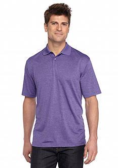 Saddlebred Short Sleeve Marled Heathered Polo Shirt