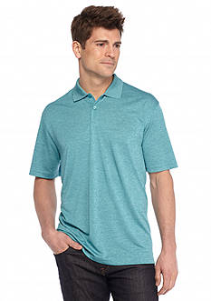 Saddlebred Short Sleeve Marled Heathered Polo Shirt