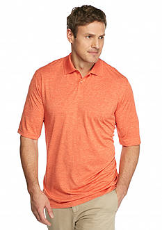 Saddlebred Big & Tall Short Sleeve Space Dye Polo Shirt