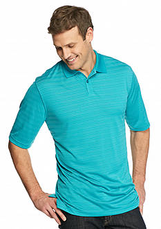 Saddlebred Big & Tall Stripe Short Sleeve Polo Shirt