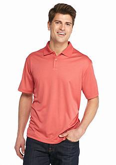 Saddlebred Short Sleeve Marled Mini Grid Polo Shirt