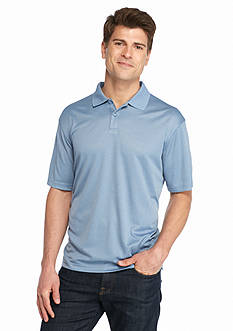 Saddlebred Short Sleeve Marled Mini Grid Polo Shirt