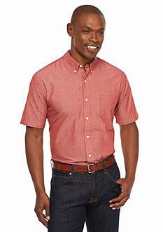 Saddlebred 1888 Short Sleeve Chambray Woven Shirt