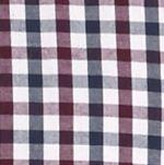 Men: Saddlebred Trends: Dress Blue Saddlebred Long Sleeve Mini Check Poplin Shirt