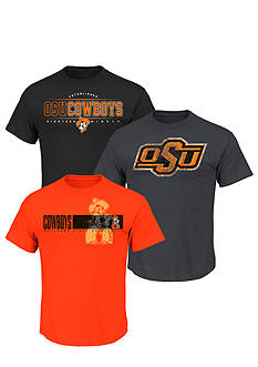 Section 101 by Majestic Oklahoma State Cowboys 3-Pack Tees