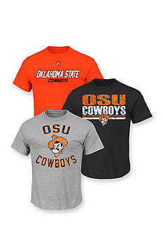 Section 101 by Majestic Oklahoma State Cowboys 3-Pack Assorted Collegiate Tees