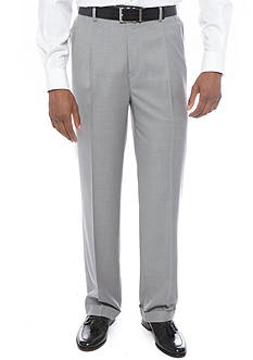 Louis Raphael Comfort Classic Fit Pleated Wrinkle-Free Dress Pants