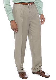 Louis Raphael Comfort Classic Fit Pleated Wrinkle-Free Dress Pants