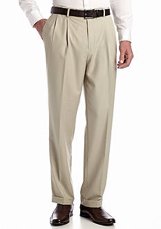 Louis Raphael Straight Fit Column Comfort Pleated Pants