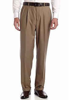 Louis Raphael Straight Fit Column Comfort Pleated Pants