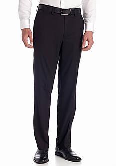 Louis Raphael Tailored Herringbone Flat Front Pants