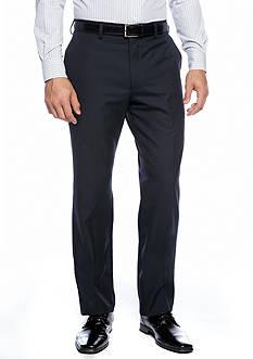 Louis Raphael Straight Fit Flat Front Dress Pants