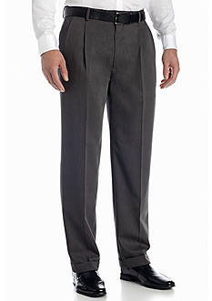 Louis Raphael Big & Tall Braggi Wool-Like Hidden Extension Comfort Waist Pleated Pant