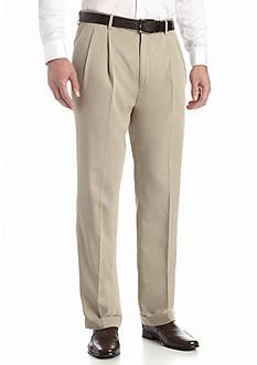 Louis Raphael Big & Tall Braggi Wool-Like Hidden Extension Comfort Waist Pleated Pant