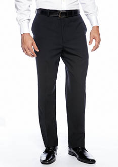 Louis Raphael Straight Fit Worsted Wool Flat Front Dress Pants