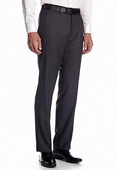 Louis Raphael Tailored 50s Sharkskin Flat Front Pant