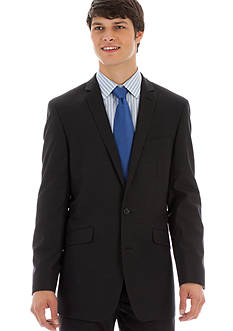 Kenneth Cole Reaction Slim Fit Gray Striped Suit Separate Coat