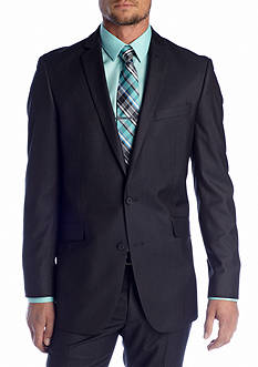 Kenneth Cole Reaction Slim Fit Charcoal Tic Suit Separate Coat