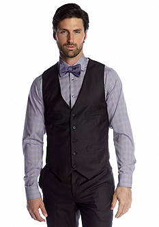 Kenneth Cole Reaction Slim Fit Charcoal Tic Suit Separate Vest