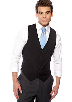 Kenneth Cole Reaction Slim Fit Striped Suit Separate Vest