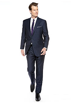 Kenneth Cole Reaction Slim Fit Navy Shark Stripe Suit