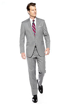 Kenneth Cole Reaction Slim Fit Light Gray Stripe Suit