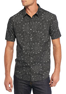 Retrofit Short Sleeve All Over Bandana Print Woven Shirt