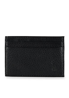 Polo Ralph Lauren Pebbled Leather Card Case with Money Clip