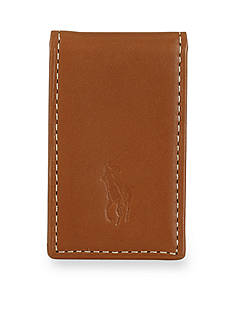 Polo Ralph Lauren Burnished Leather Money Clip