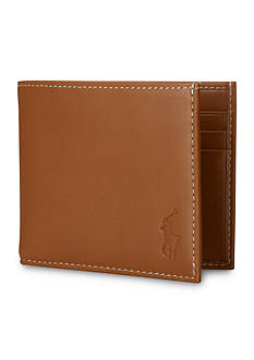 Polo Ralph Lauren Burnished Leather Billfold Wallet