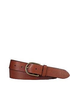 Polo Ralph Lauren Stirrup-Buckle Classic Leather Belt