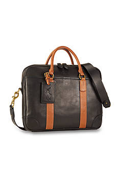 Polo Ralph Lauren Two-Toned Leather Commuter Bag