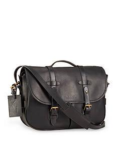 Polo Ralph Lauren Leather Messenger Satchel