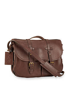 Polo Ralph Lauren Leather Messenger Satchel