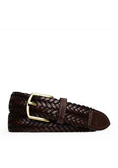 Lauren Ralph Lauren Leathergoods Classic Braided Leather Belt