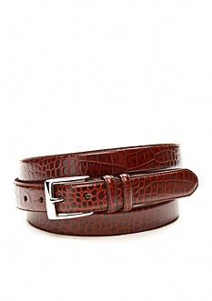 Polo Ralph Lauren Big & Tall 1 1/8 in. Faux Crocodile Embossed Genuine Leather Belt